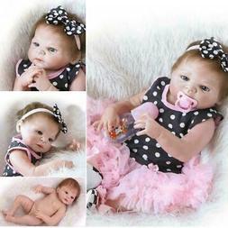 "23"" Handmade Reborn Baby Doll Full Body Silicone Vinyl Baby"