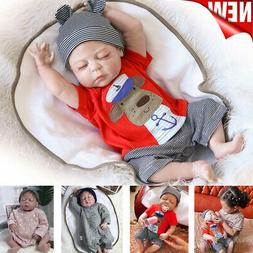 "23"" Reborn Baby Dolls Lifelike Newborn Vinyl Silicone Baby B"