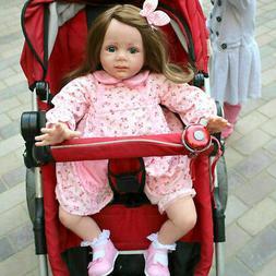 "24"" Realistic Reborn Doll Toddler Girl Vinyl Silicone Newbor"