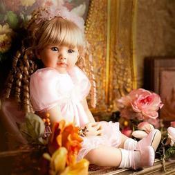 24'' Reborn Baby Dolls Lifelike Silicone Newborn Girl Golden