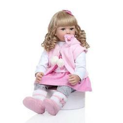 "24"" Reborn Baby Dolls Lifelike Toddler Girl Handmade Reborn"