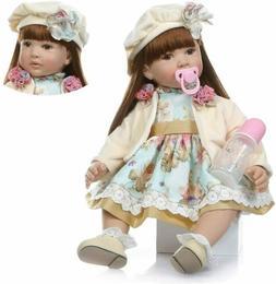 "24"" Reborn Baby Dolls Realistic Baby Doll Big Toddler Handma"