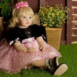 "24"" Realistic Toddler Dolls Girl Reborn Baby Dolls Soft Body"