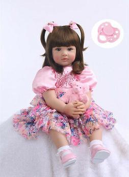 "24"" Toddler Reborn Girls Doll Gift Newborn Baby Toys Lifelik"