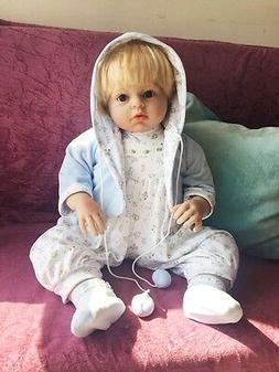 "28"" Toddler Reborn Baby Boy Doll Toys Newborn Soft Vinyl Sil"