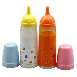 2PCs Magic Juice and Milk Bottle Set Baby Dolls Accessories