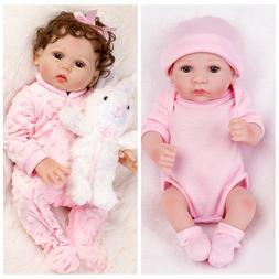 2x Reborn Dolls Full Body Vinyl Silicone Girl Lifelike Baby