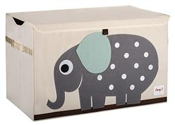 3 Sprouts Elephant Toy Chest, Grey