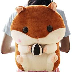 3D Cuddly Plush Stuffed Hamster Mouse Doll Backpack Knapsack