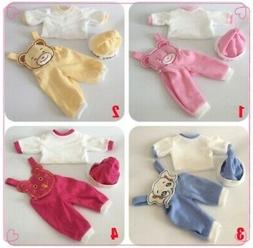 4 style Doll Clothing Sets Suit for 22 inch Reborn Baby Doll