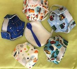 5 SMALL boy Baby Alive cloth doll diapers Better Bailey Sips