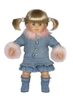 5pc Denim Skirt Set Bitty Baby® and Bitty Twins® type Doll