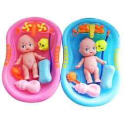 5PCS Baby Doll in Bath Tub with Duck +Shower Accessory Set K