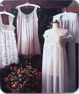 8004 Misses Lingerie Nightgown Robe Baby Dolls Patterns UNCU