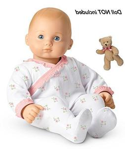 American Girl Bitty Baby's Sleeper and Bear Set Includes Boo