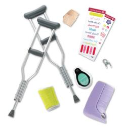 American Girl - Feel Better Kit for Dolls Crutches,Cast,Band