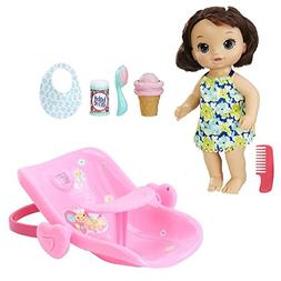Baby Alive Bundle: Magical Scoops Baby  with 2-in-1 Car Seat