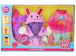Baby Alive Pretty Lil Fashion Clothing Set – Features 3 Ou