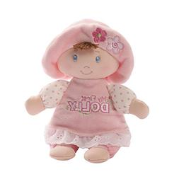 Baby GUND My First Dolly Brunette Stuffed Plush Rattle, 7""