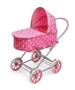 Badger Basket 3-in-1 Doll Pram, Carrier, and Stroller , Pink