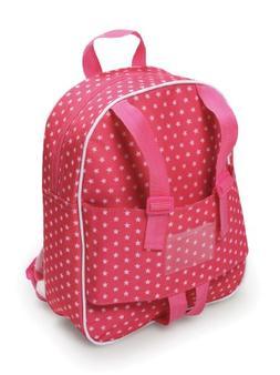 Badger Basket Doll Travel Backpack - Star Pattern