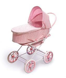 Badger Basket Pink Rosebud 3-in-1 Doll Pram, Carrier, and St