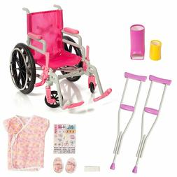 Beverly Hills Doll Collection Wheelchair Set for 18 Inch Ame