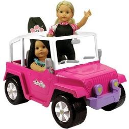 Doll Car, 4x4 Doll Beach Cruiser for 18 Inch Dolls Like Amer