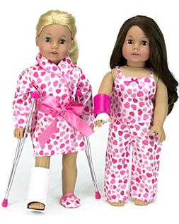 Doll Crutches Set: Complete Get Well Soon Set Includes Doll