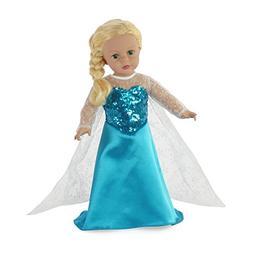 "Fits 18"" American Girl Dolls | Princess Elsa Frozen Inspired"