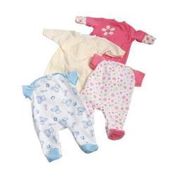 "Four Piece Sleeper Set for 12"" Baby Dolls"