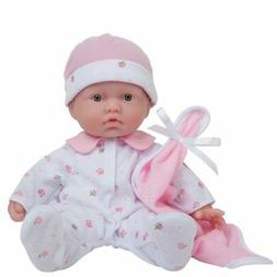La Baby 16-inch Washable Soft Body Pink Play Doll Ages 2 JC Toys New