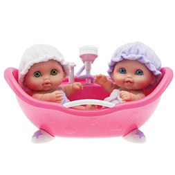 "Lil' Cutsies Twin Dolls in Bath - 8.5"" all vinyl water fri"