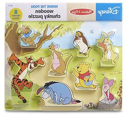 Melissa & Doug Disney Winnie The Pooh Wooden Chunky Puzzle