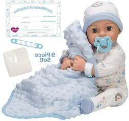 Adora Adoption Baby boy Handsome - 16 inch Newborn Doll, wit