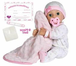 """Adora Adoption Baby Hope - 16"""" newborn doll, w/accessories,"""
