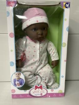 JC Toys, African American La Baby 20-inch Soft Body Pink Pla