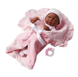 "JC Toys 18783 African American La Newborn 15.5"" Soft Body Bo"