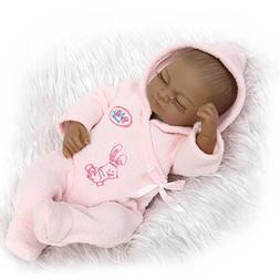 Full Body Vinyl African American Sleeping Reborn Baby Dolls