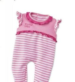 AG Bitty Baby Pink & White Doll Sleeper & Matching Blanket &