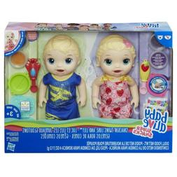 Baby Alive Super Snacks Snackin' TWINS LUKE AND LILY DollS