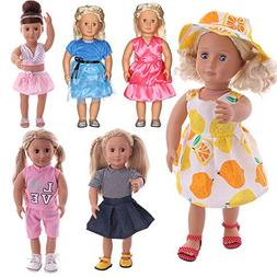 FLETA for American Girl 18 inch Baby Doll Clothes, 6 Pack Se