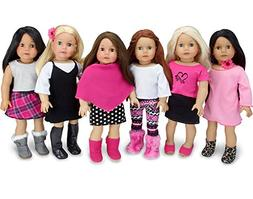Sophia's American Girl Sized Mix and Match Fall Set Black, W