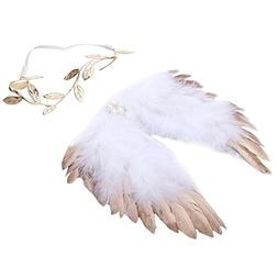 chinatera Newborn Angel Feather Wings Photography Props with