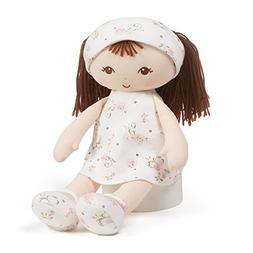 Baby GUND x Little Me Brunette Stuffed Plush Doll Toy, 13""