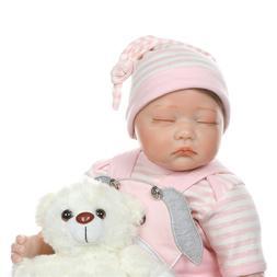 Baby Doll 22'' Handmade Realistic Girl Baby Doll with Teddy