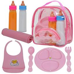 Baby Doll Accessories,Doll Magic Bottles and Doll Feeding Se