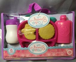 My Sweet Love Baby Doll Accessories Feeding Set- 8 Pieces Ne
