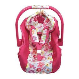 Adora Baby Doll Car Seat in Pink Flower Print for Baby Dolls