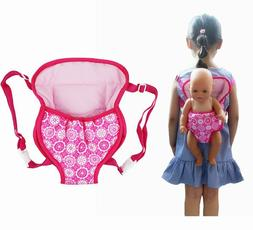 Baby Doll Carrier Backpack Doll Accessories Front Back Carri